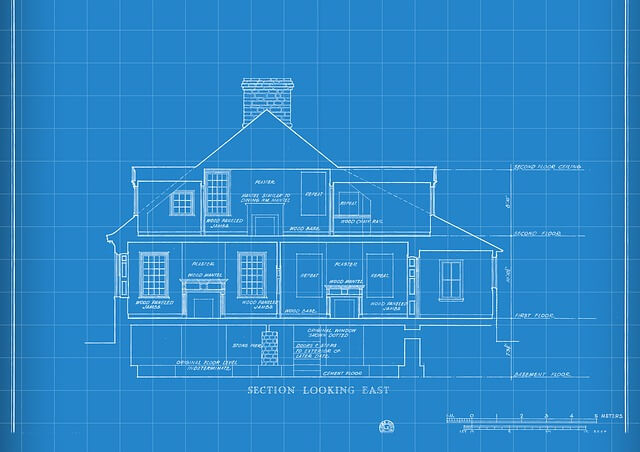 blueprint of a multi-story house