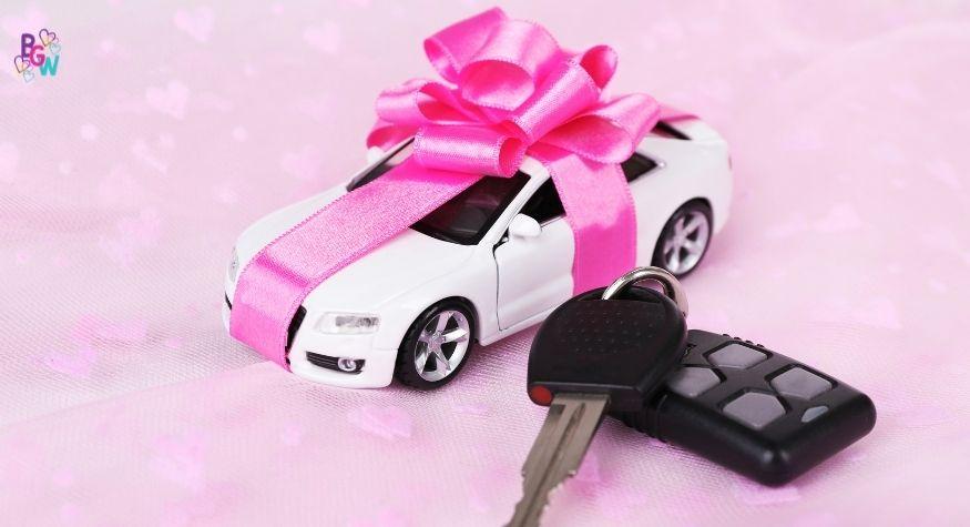 small car with car keys